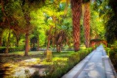 Park nahe dem Nil in Ägypten Lizenzfreies Stockfoto
