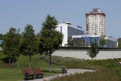 Park nahe Donbass Arenastadion lizenzfreie stockbilder