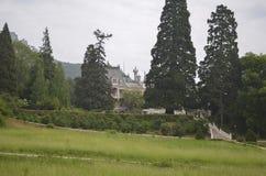Park nahe Massandra-Palast Stockfotos