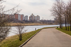 Park named after Moscow's 850th anniversary Stock Image