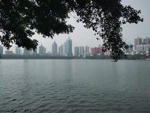 Park Nannings Nanhu lizenzfreie stockfotografie