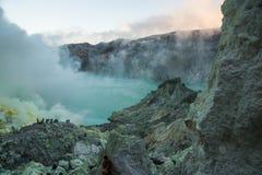 Park Narodowy Ijen, Indonezja Zdjęcia Stock