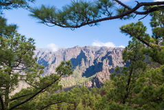 Park Narodowy Kaldera De Taburiente Obraz Royalty Free