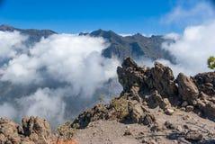 Park Narodowy Kaldera De Taburiente na wyspa losie angeles Palma obraz royalty free
