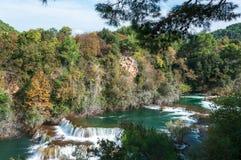 Park Narodowy Krka, siklawy, Chorwacja Fotografia Stock