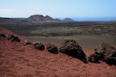 park narodowy timanfaya obraz stock