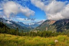 Park Nationaal van Ecrins-bergen stock afbeelding