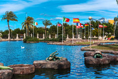 Park of Nations in Torrevieja city. Alicante, Spain Stock Photo
