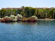 Park of Nations Torrevieja dedicated to the nations of Europe, S Stock Photo