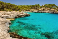 Park natural Mondrago. Mallorca. Cala Mondrago. Summer Royalty Free Stock Images
