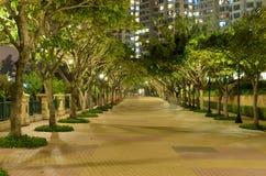 Park near apartment house Stock Photography