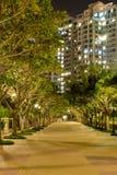 Park near apartment house Stock Photos