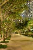 Park near apartment house Stock Photo