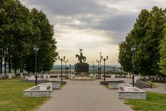 Park near the Assumption Cathedral in Vladimir, Russia. Travel Stock Photos
