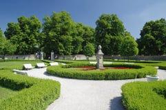 The park near castle Cerveny Kamen stock photos