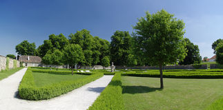 The park near castle Cerveny Kamen Royalty Free Stock Photo
