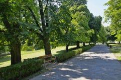 The park near castle Cerveny Kamen, Slovakia Royalty Free Stock Photography