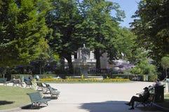 The park near Champs-Elysees royalty free stock photos