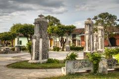 Park near a Church in Granada, Nicaragua Royalty Free Stock Photos