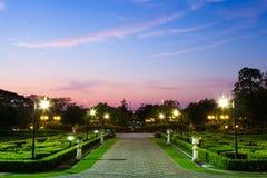 Park near dusk. Stock Image