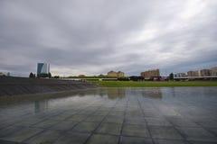 Park near Heydar Aliyev Center Stock Photo