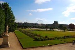 Park near Louvre Royalty Free Stock Photo