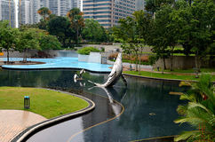 Park near the Petronas Twin Towers Stock Images