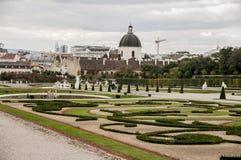 Park near the royal palace Schönbrunn. In Vienna Royalty Free Stock Photo
