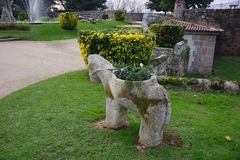 Park near ruins of castle of Vigo, Vigo, Galicia, Spain Royalty Free Stock Photos
