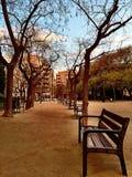 Park near Sagrada Familia Stock Photo