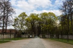 Park of the New Palace in Bayreuth, Germany, 2015 Royalty Free Stock Image