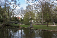 Park of the New Palace in Bayreuth, Germany, 2015 Royalty Free Stock Images