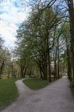 Park of the New Palace in Bayreuth, Germany, 2015 Royalty Free Stock Photos