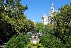 Park New- York Cityhall stockfoto