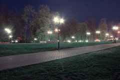 Park night lanterns Stock Image