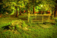 In the park. Night  view at park Stock Photography