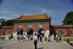 Park of north imperial tomb of Shenyang Stock Photos