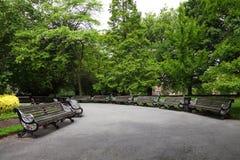 Park in Nottingham, het UK stock afbeeldingen