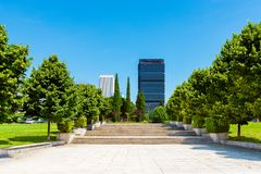 Park of the Nuevos Ministerios. Park of the new ministries in Madrid, Spain Royalty Free Stock Photos
