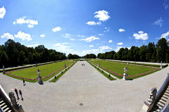 Park in nymphenburg Schloss, München Stockbilder