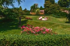 Park Nyon na bulwarze - Szwajcaria zdjęcie stock