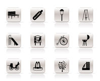 Park objects and signs icons Royalty Free Stock Image