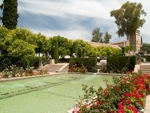 Park och damm i Alcazar av Cordoba Royaltyfri Foto