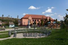 Park in Ocna Sibiu, Roemenië Royalty-vrije Stock Foto's