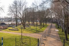 Park od ogrodniczego przedstawienia 2018 Fotografia Royalty Free