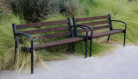 A bench in the park. royalty free stock photography