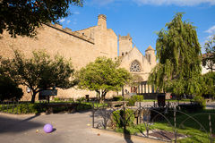 Park of Olite with ballon, Navarre, Spain Royalty Free Stock Images