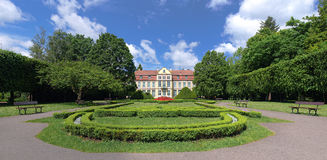 Park in Oliva and Palace Opatow. Park in Oliwa palace Opatow Gdansk, Poland Stock Photography
