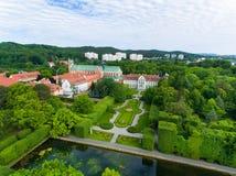 Park Oliwa in Sopot, top view Stock Image