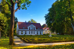Park in Oliwa. Oliwa park in summer scenery. Oliwa, Poland Royalty Free Stock Photo